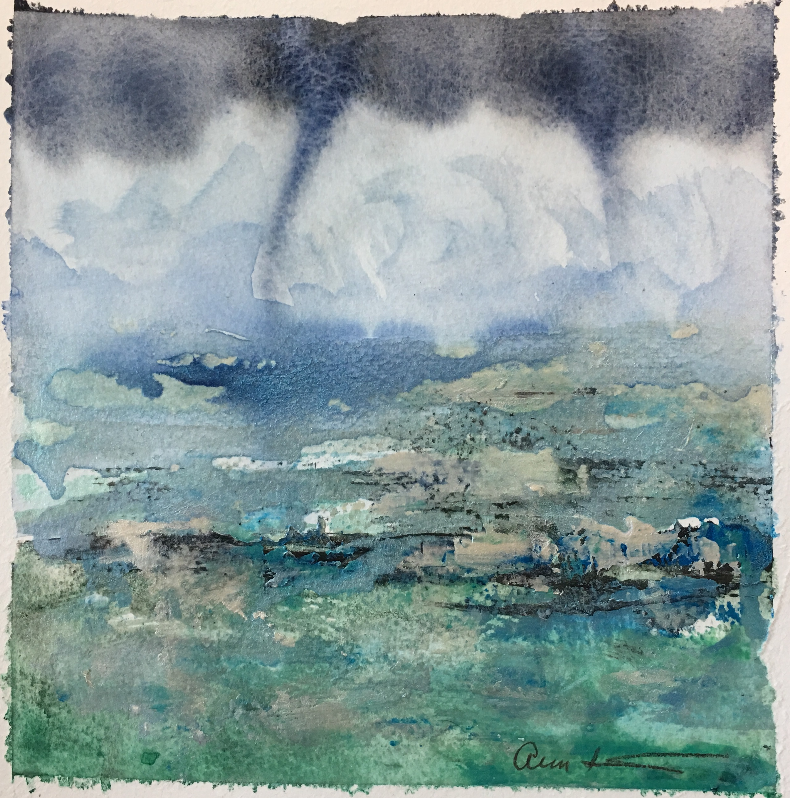 Dueling Funnel Clouds by Ann Stretton