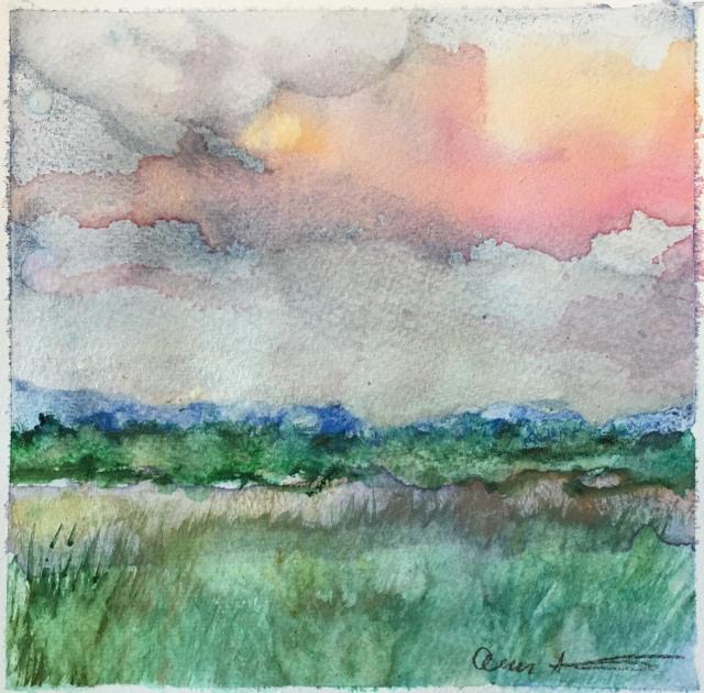 Orange Cloud by Ann Stretton