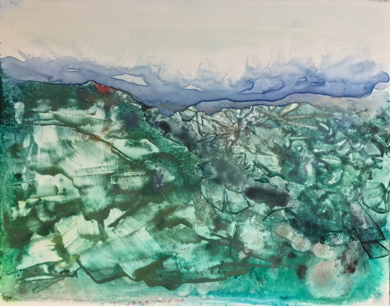 A Green Town Below by Ann Stretton