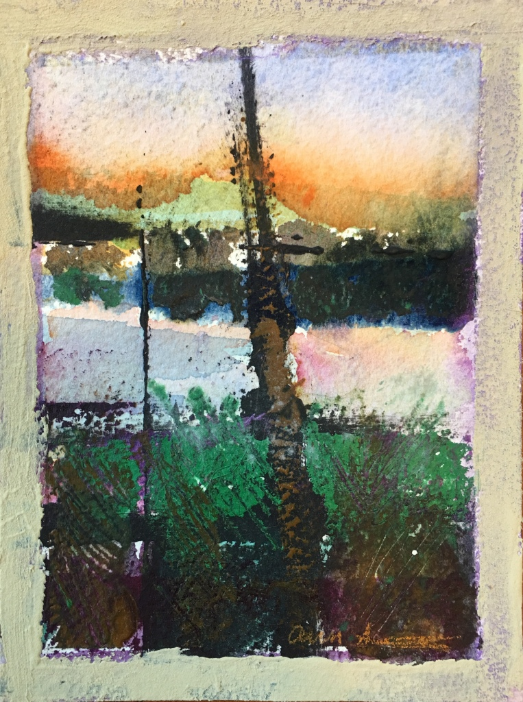 Dead Trees Along the Shore by Ann Stretton