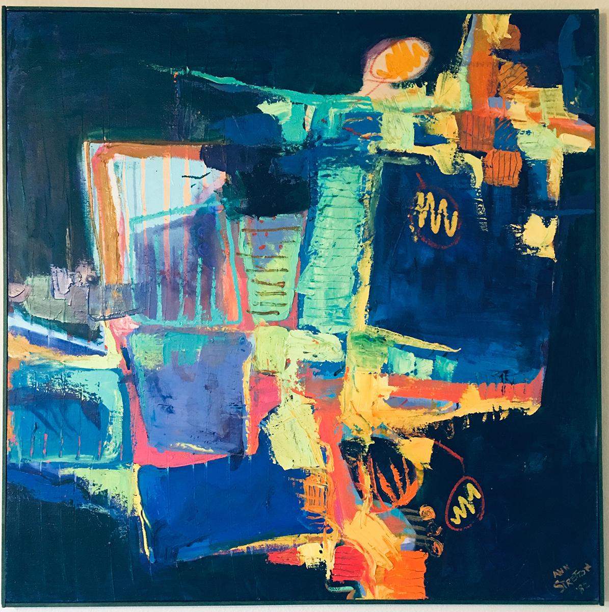 Untitled, Oil and Acrylic, 1982, Ann Stretton
