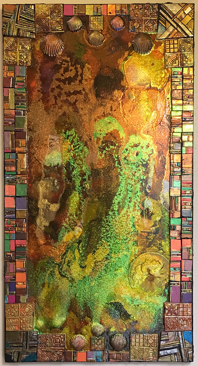 Untitled, Mixed Metallic Media, circa 2003, by Ann Stretton