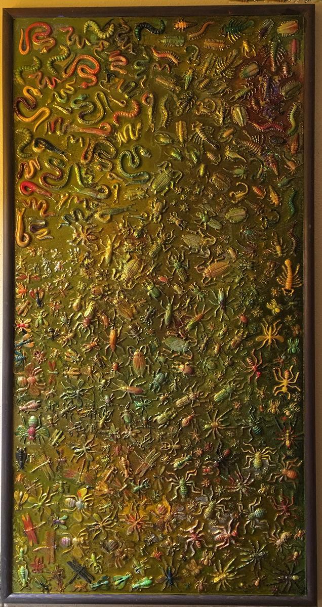 My Plague #2, Mixed Media, circa 1995, Ann Stretton