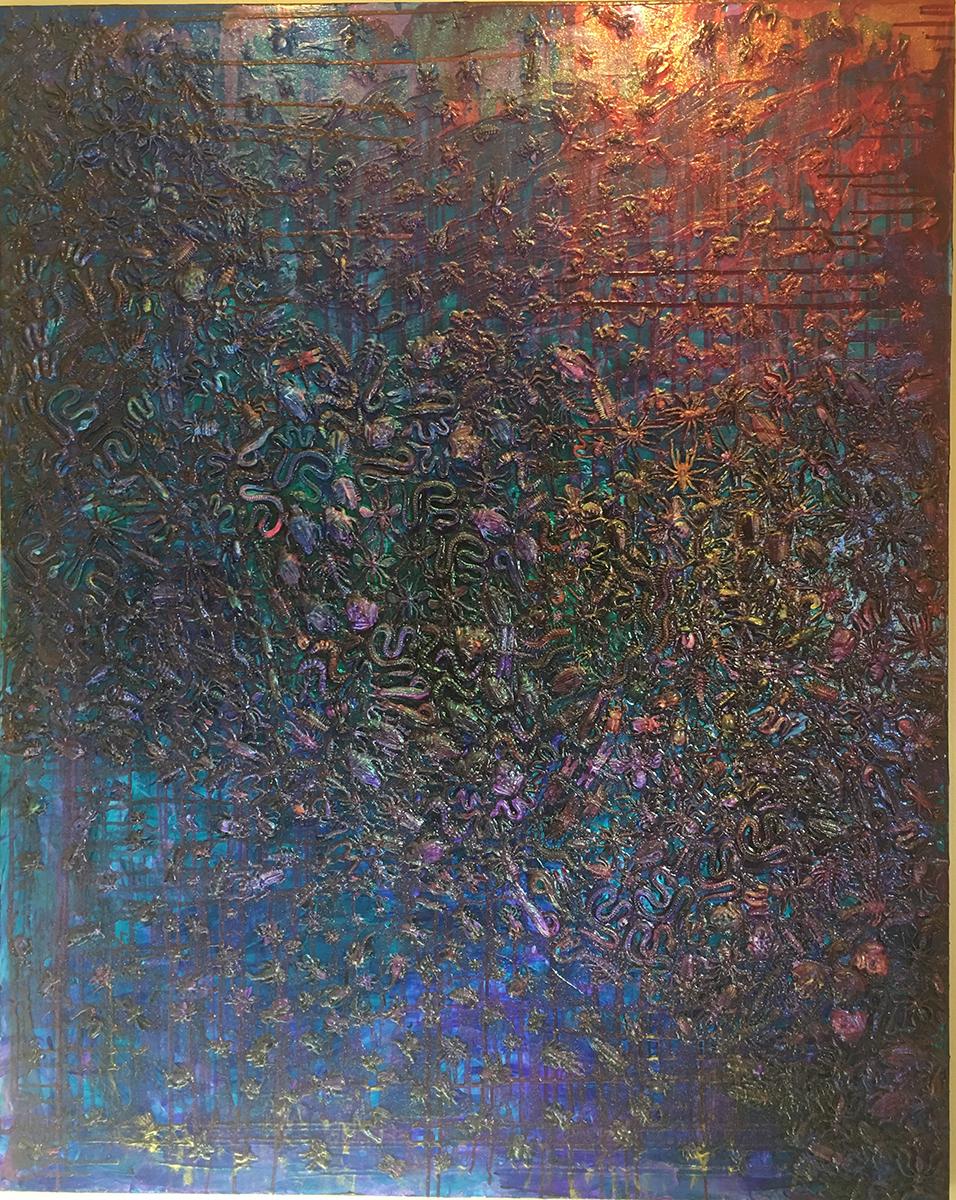 My Plague, Mixed Media, circa 1995, Ann Stretton