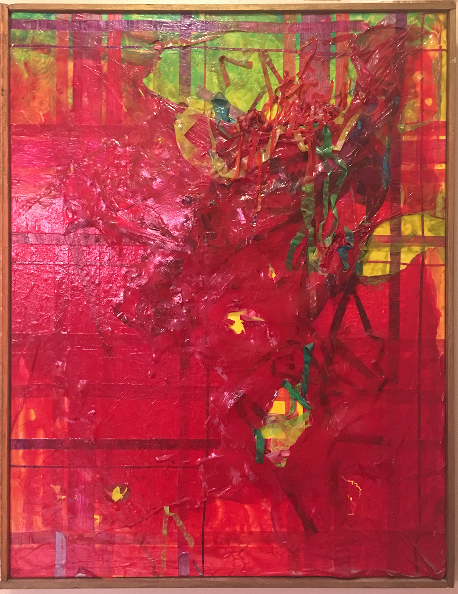 Plaid Massacre, Acrylic, 1983, Ann Stretton