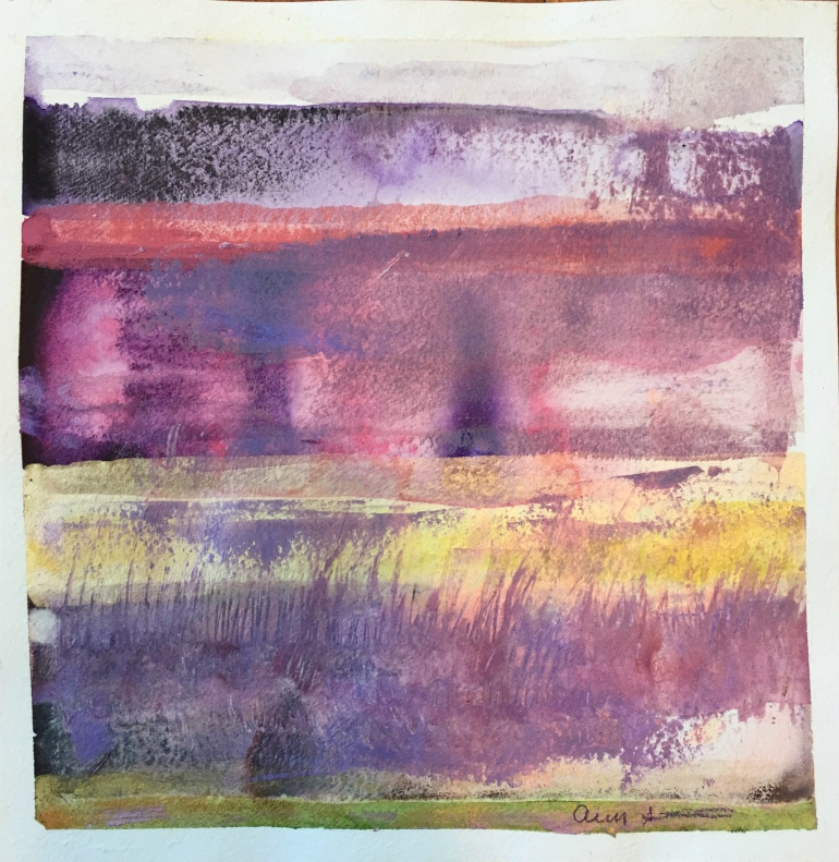 Purple Cliffs by Ann Stretton