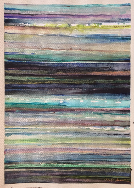 Serape Landscape #1 by Ann Stretton