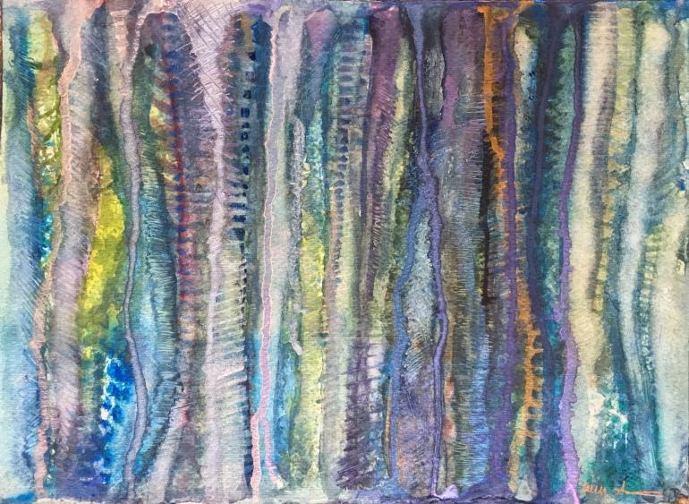 Striped Trees by Ann Stretton