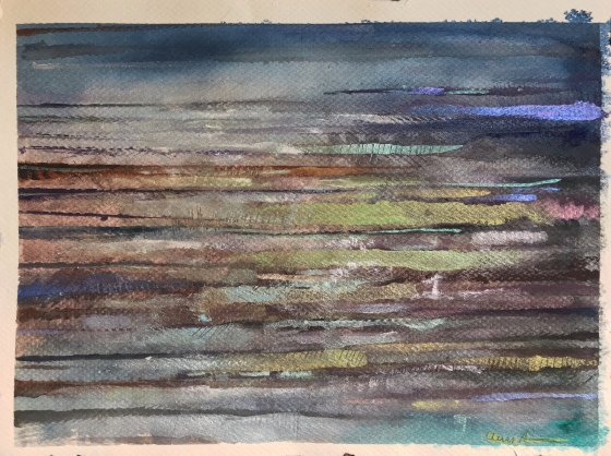 The Striped Beach by Ann Stretton
