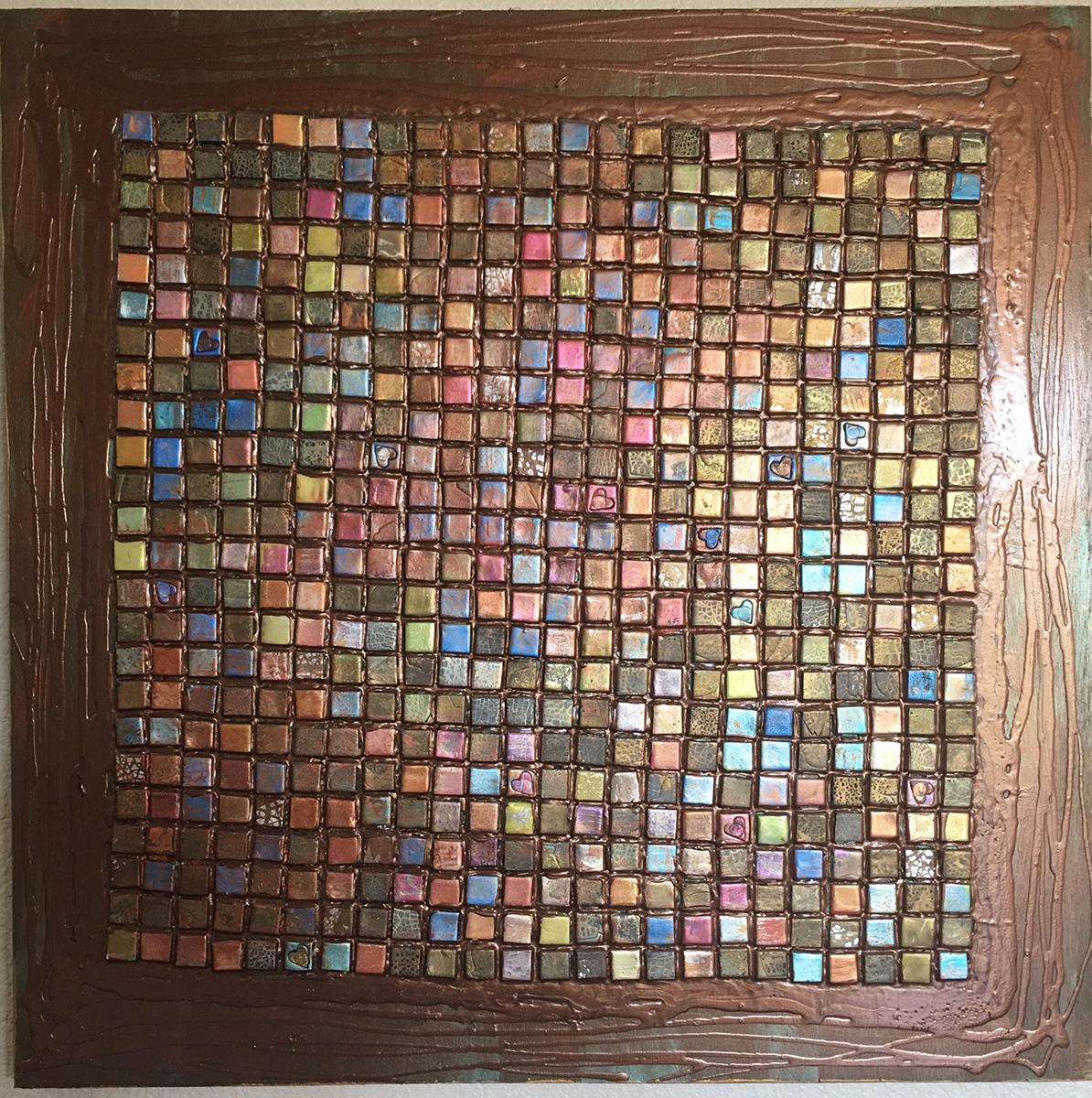 Tile Piece 1, Mixed Media, circa 1995, by Ann Stretton