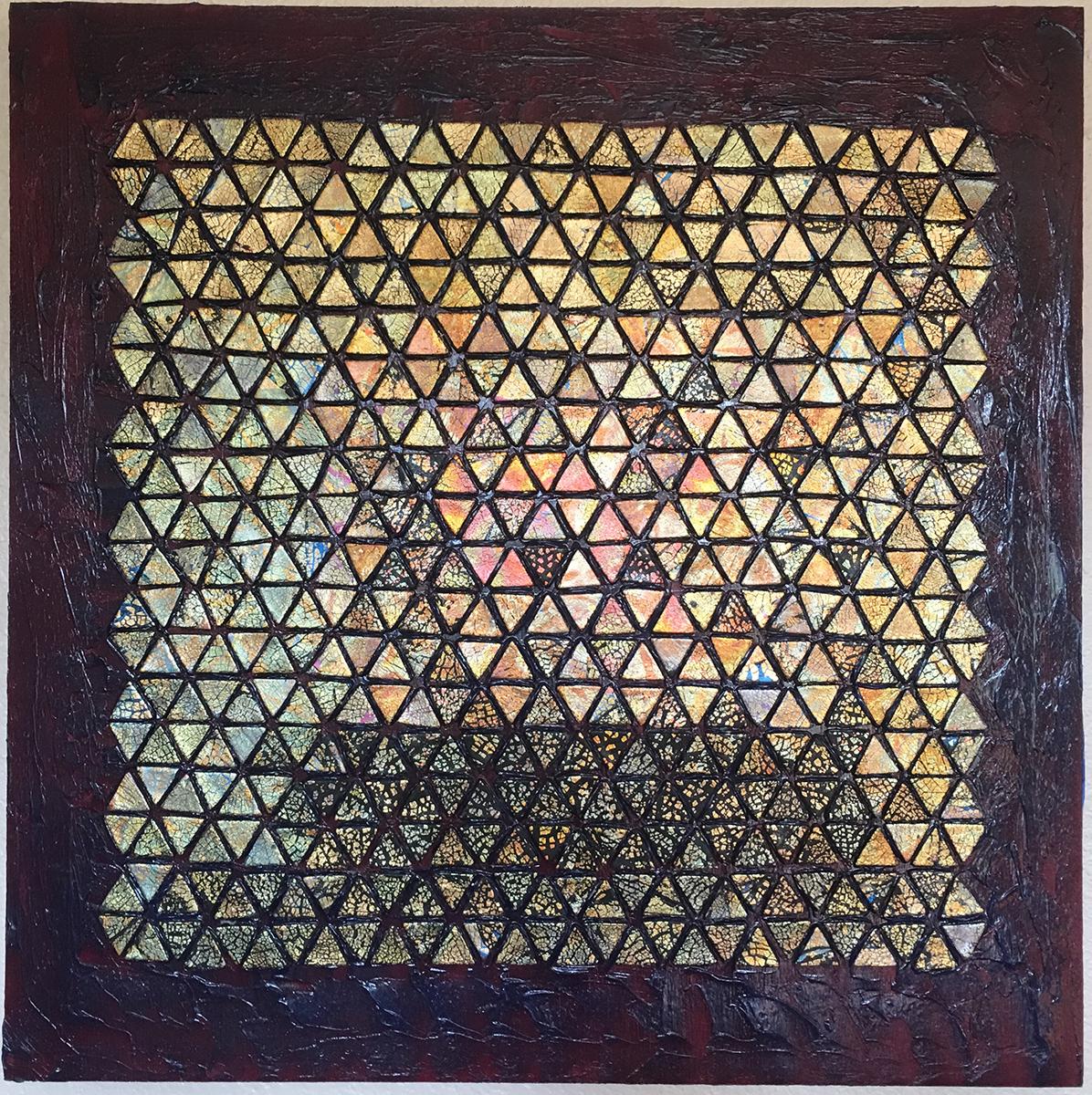 Tile Piece 2, Mixed Media, circa 1995, by Ann Stretton
