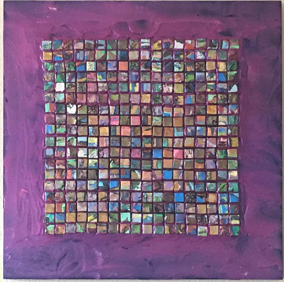 Tile Piece 3, Mixed Media, circa 1995, by Ann Stretton