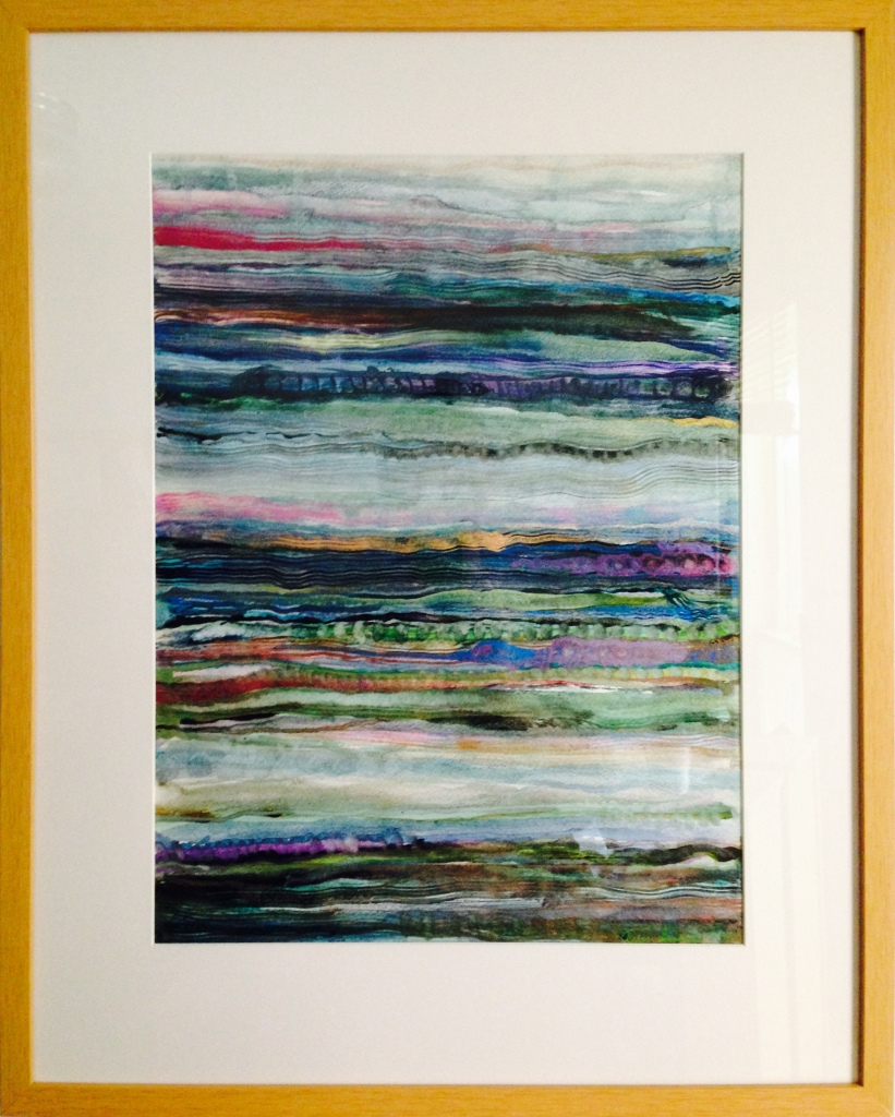 Unstable Beachscape-framed by Ann Stretton
