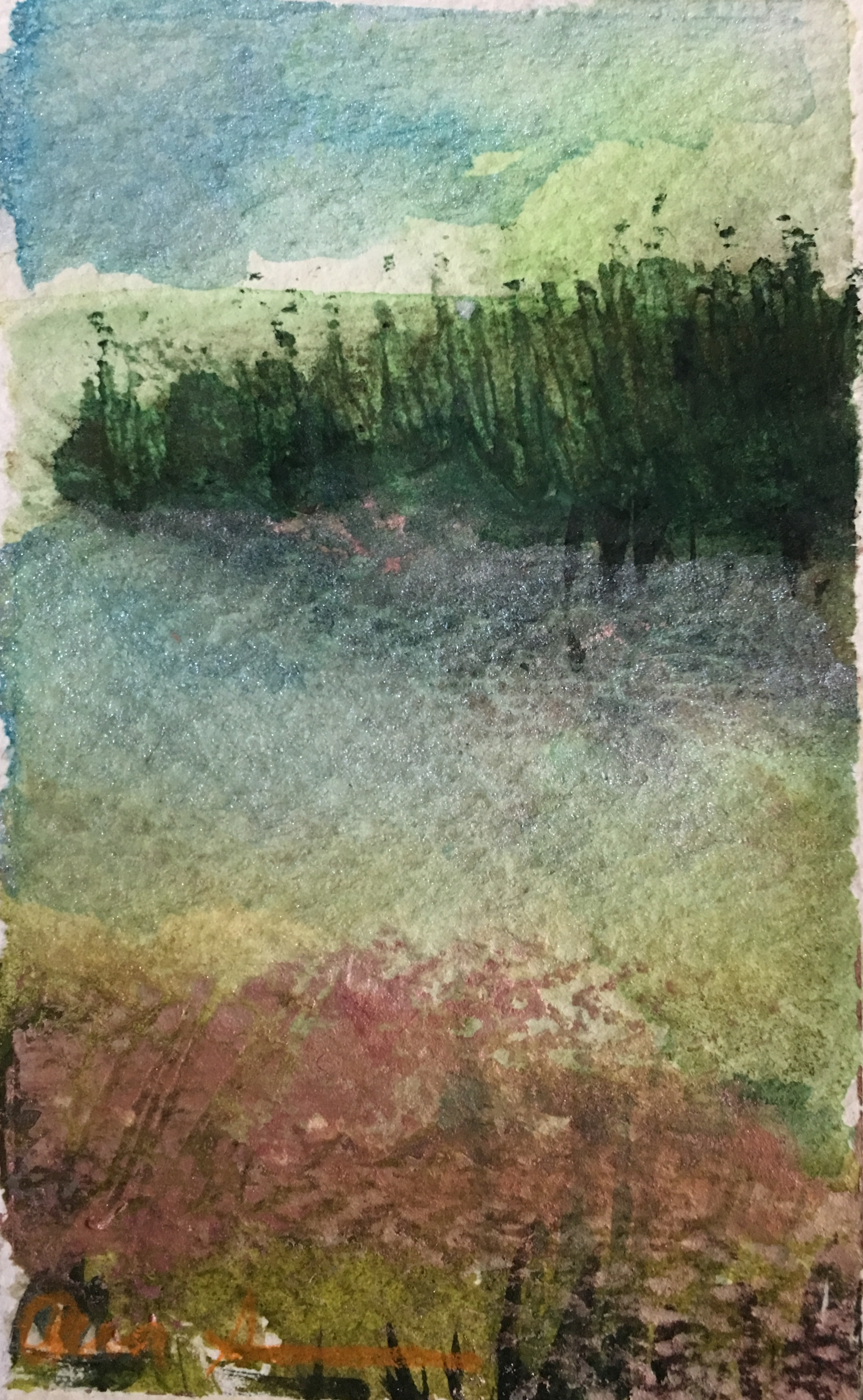 Humidity Blurs the Meadow by Ann Stretton