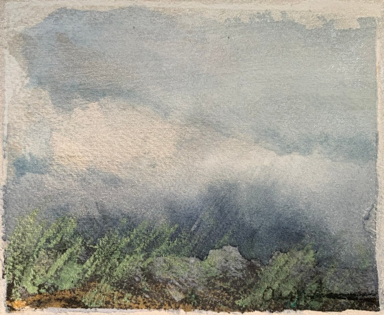 On the Mountain with Storm by Ann Stretton