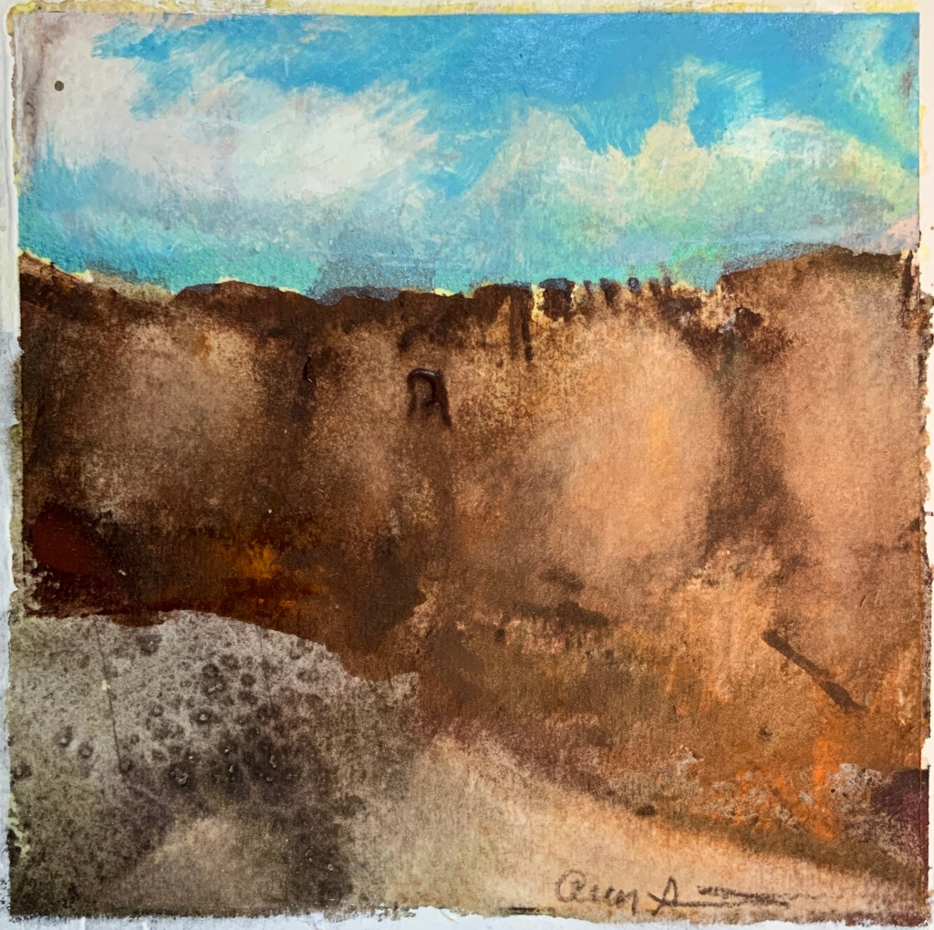 Red Sandstone Canyon by Ann Stretton